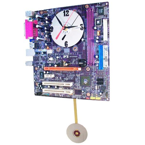 Purple-Motherboard-Pendulum-Clock
