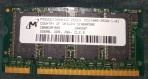 Micron 256 Mb DDR 266 Mhz PC 2100S-2533-1-A1 MT8VDDT3264HDG-265C3 CBNBCRF005 200337 SODIMM – Occasion